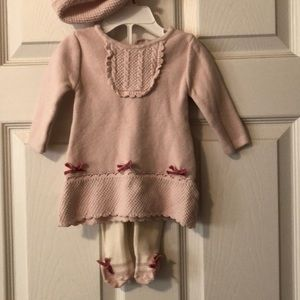 Jillians closet sweater dress set size 0-3 months